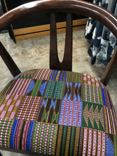 African Multi-Colored Kente Chair