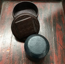 Taureg Round Leather Boxes