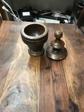Wooden Finial Box - Dark Wood
