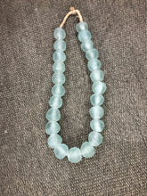 African Sea Glass Bead Necklace