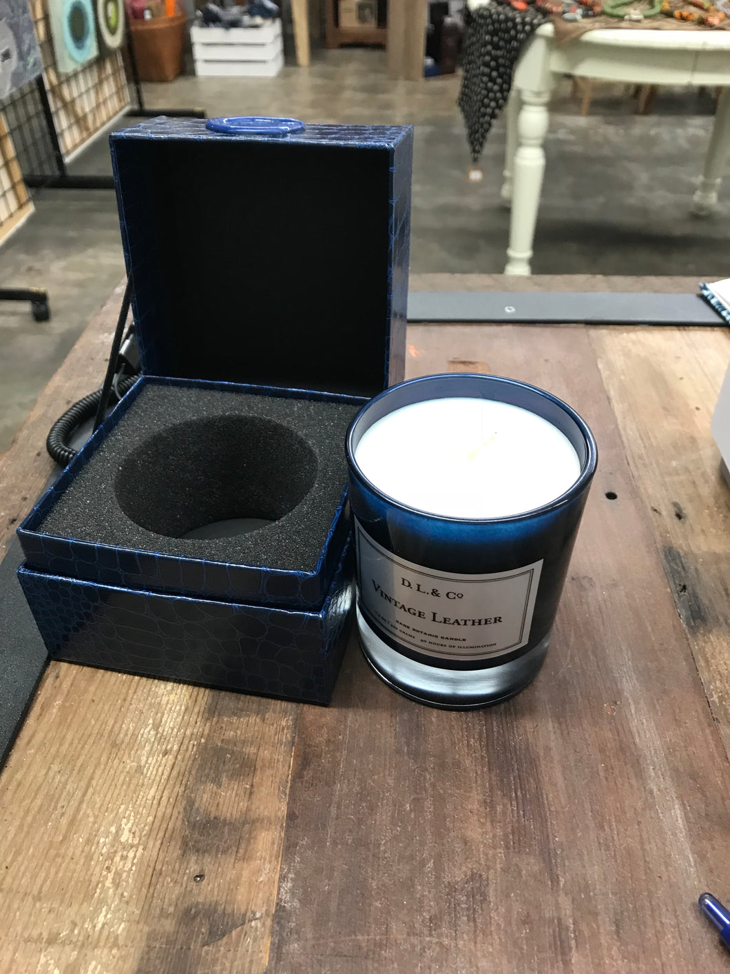Vintage Leather Candle