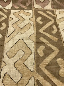 Kuba Cloth - Natural Ground with Tonal Accents