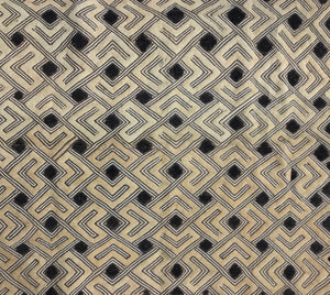 "Kuba Cloth Large Scale Pattern ""Velvet"""