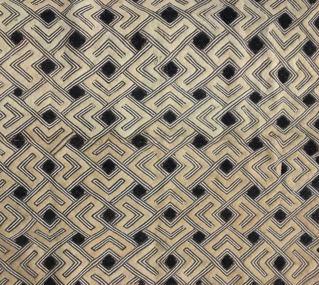 Kuba Cloth Large Scale Pattern