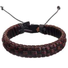 MAD MAN LEATHER BRACELET-Brown