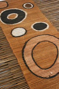 Circle Print Twig Table Runner
