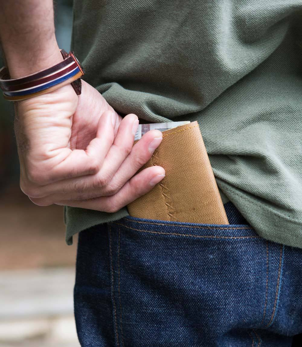 SUSTAINABLE LEATHER WALLET -