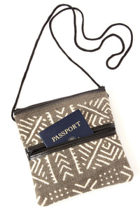 Twilight Mud Cloth Passport Bag