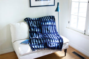 Modern Indigo Throw Blanket