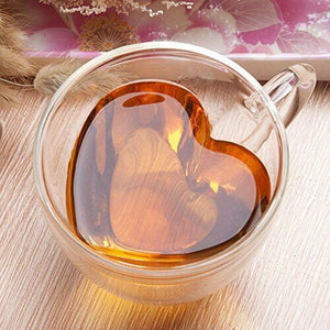 Glass Heart Mug - Double Walled