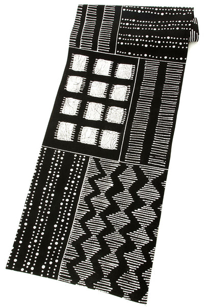 Zambian Hand Painted Triple Tribal Pattern Table Runner