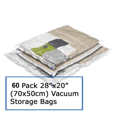 Vacuum Storage Bags Cartons sales - 50 Pack to 60 Pack