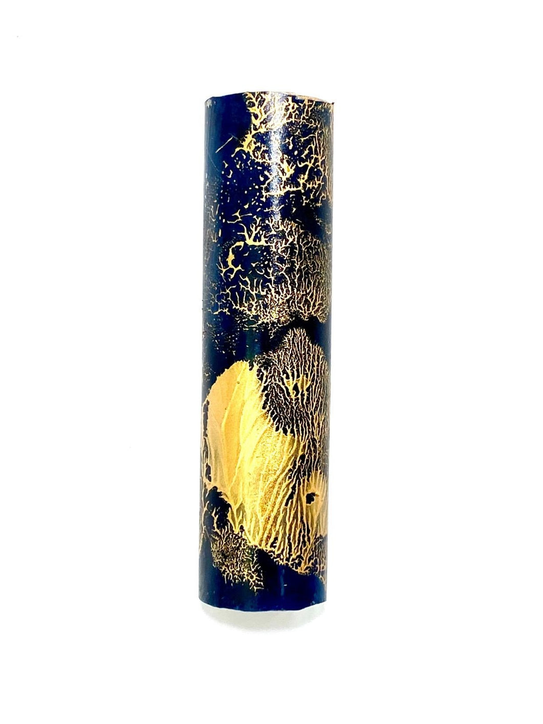 Wave Series Small Mezuzah - Blue/Gold