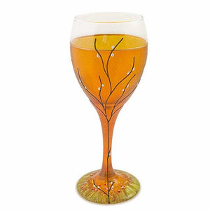 Contemporary Kiddush Cup or Wine Glass 8.5 Ounce
