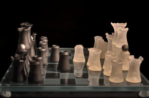 Chess Set - Carved Glass