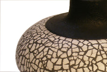 Load image into Gallery viewer, Black Gesso Vase with Eggshell Ivory