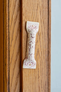 Antique Ceramic Mezuzah 1:  Small Shin
