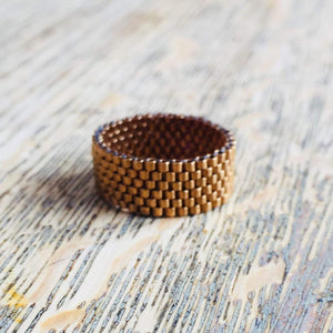 Classic Beaded Band Ring