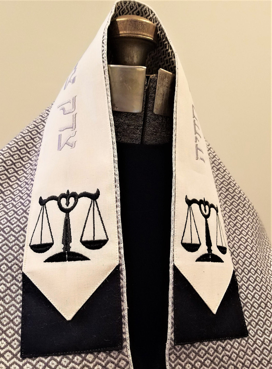 Black and White Justice Tallit