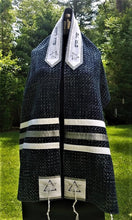 Load image into Gallery viewer, Blue Tweed Tallit