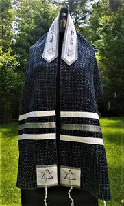 Blue Tweed Tallit