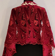 Load image into Gallery viewer, Claret Burnout Velvet Tallit