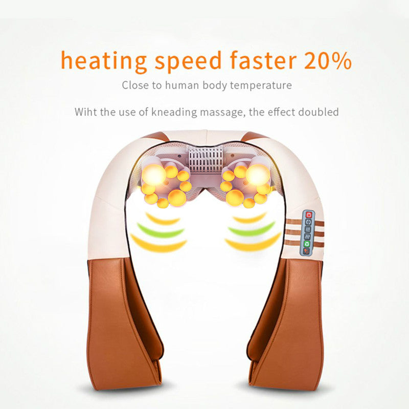 shiatsu kneading massager with heat