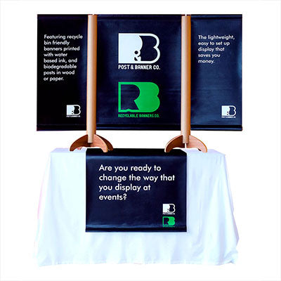 Boothster and Recyclable Banners Co proud to feature a Plethora of New, 100% Recyclable and Biodegradable Tradeshow Banner Stands
