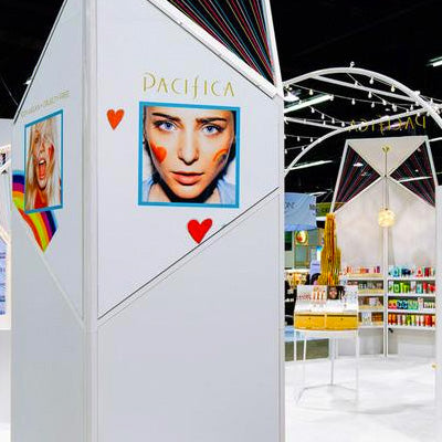 Boothster proud to work with Pacifica Beauty on their recent custom tradeshow booth at Natural Products Expo West