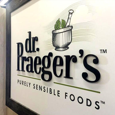 Custom Green Tradeshow Booth Design for Dr. Praeger's Foods