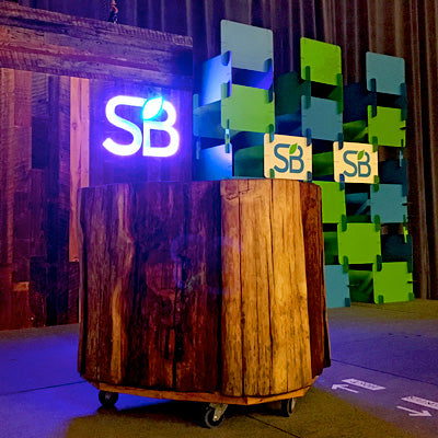 Boothster's Custom Ecofriendly Stage Design a Big Hit at the Sustainable Brands Show!!