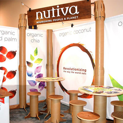 Introducing the Recyclable Tube Tradeshow Booth Building System