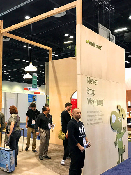 ecofriendly tradeshow booth design for the global pet expo