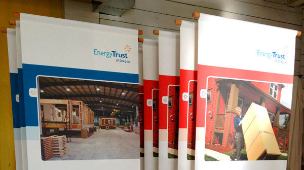 Eco Rolla Vertical Banner Stands for the Energy Trust of Oregon