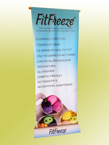 Eco Rolla Vertical Banner Stand for FitFreeze