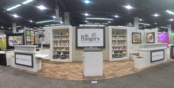 Dr. Praeger's Natural Products Expo West Tradeshow Booth by Boothster