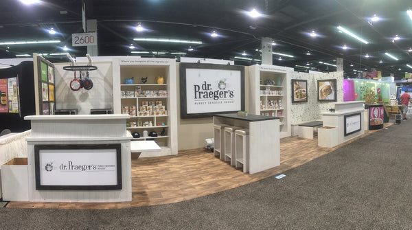 Nj Trade Show Booth : Custom green tradeshow booth design for dr praeger s