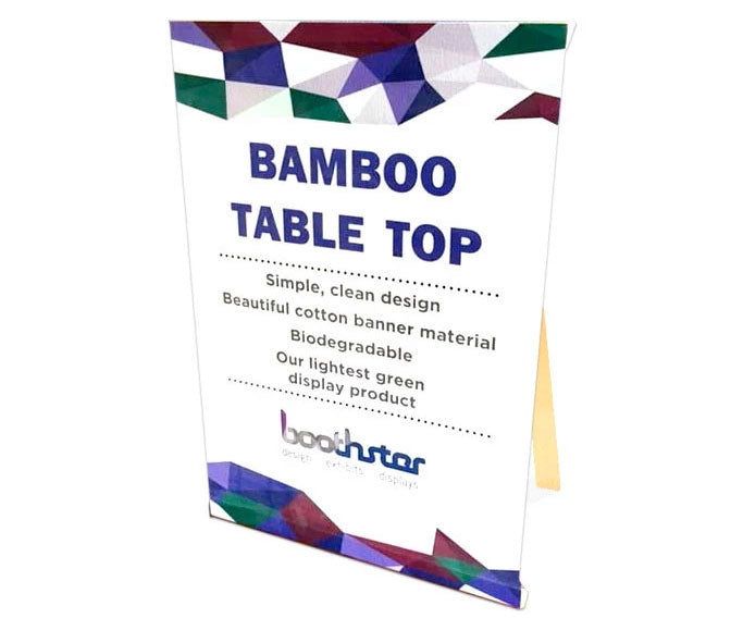 baby bamboo tabletop display for smaller tradeshow events