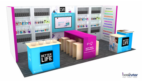 custom built tradeshow booth design