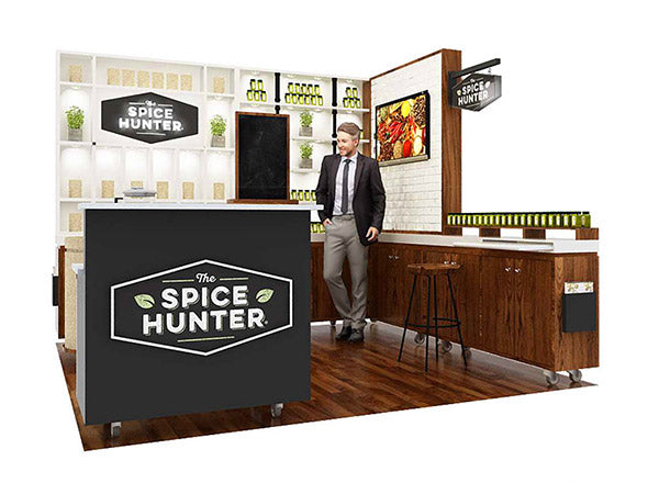 custom ecofriendly tradeshow booth design for the Fancy Foods Show