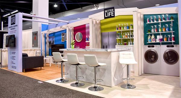 ecofriendly tradeshow booth design for greenbuild