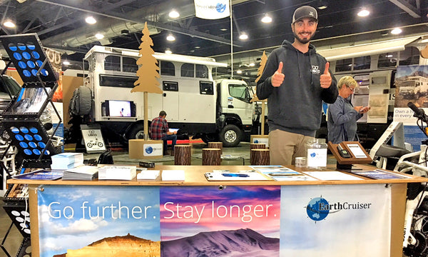 ecofriendly tradeshow booth design for earthcruiser