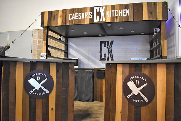 custom tradeshow booth design for frozen food company