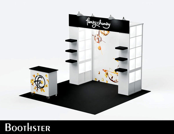 tradeshow booth design for funky chunky