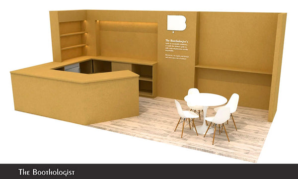 custom tradeshow booth design template using recyclable materials