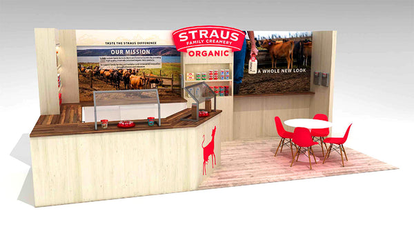 100% Percent Recyclable Tradeshow Booth Design for Natural Products Expo West