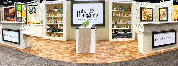 ecofriendly tradeshow booth design for natural products expo west