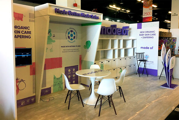 ecofriendly tradeshow booth design for the Natural Products Expo