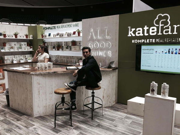 ecofriendly tradeshow booth design at natural products expo west