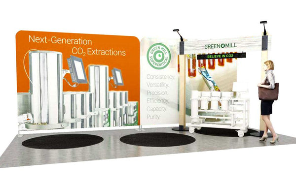 Budget Tradeshow Booth Design for Green Mill Supercritical